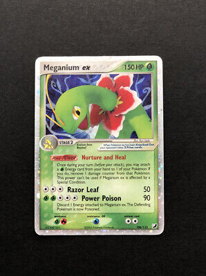 Meganium EX 106/115 - EX Unseen Forces - Holo Pokemon Card - Played Condition