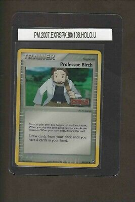 Professor Birch 80/108 Holo Uncommon 2007 EX RS Power Keepers Pokemon card game
