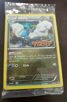 Pokemon SEALED STAFF Altaria Prerelease Promo Pack of 5 Dragons Exalted BW48