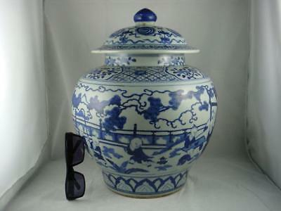 Fine Porcelain Blue&white Vase/jar With Lid
