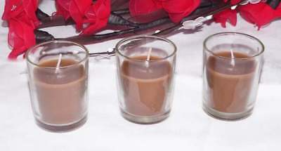 60 Autumn Brown Wax Votive Candles Table Deco Wedding Anniversary Party Event