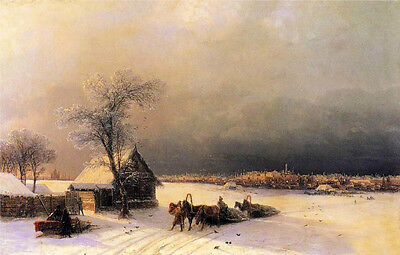 Oil Ivan Constantinovich Aivazovsky - Moscow In Winter From The Sparrow Hills