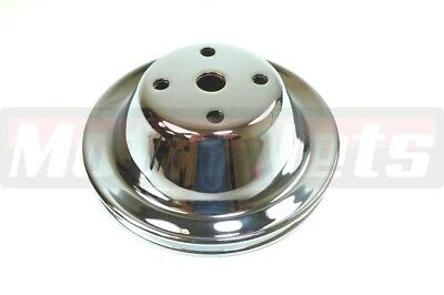 Chrome Steel Sbc Chevy 283-350 Long Water Pump Upper Pulley 1 Single Groove Lwp