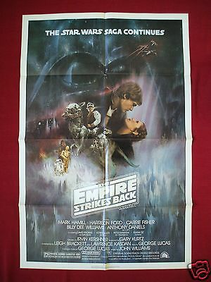 Star Wars The Empire Strikes Back * 1980 Original Movie Poster 1sh Style A Nm