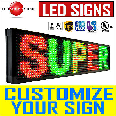 """Led Super Store: 3color 19"""" Tall Programmable Scrolling Emc Display Msg Sign"""