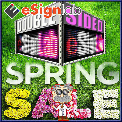 """Rwp 85"""" X 19"""" Double-sided Outdoor Programmable Scrolling Led Sign 25mm"""