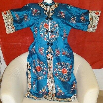 Antique Chinese Silk Embroidered Women