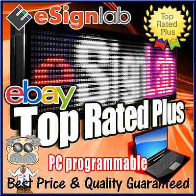 """Led Sign 3 Color Rwp 21"""" X 59"""" Pc Programmable Scrolling Message Display"""