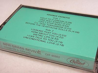 Rarenew Grass Revival - Hold To A Dream : Promo Advance Tape Cassette