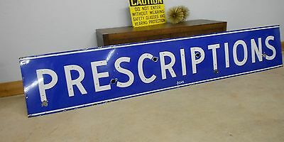 Amazing Find!!! Huge Heavy Porcelain Pharmacy Sign 9