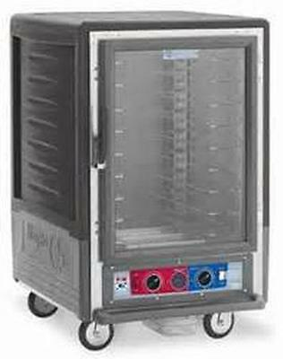 Metro C535-hfc-gy 1/2 Height Heated Holding Cabinet W/ Univ. Wire Pan Slides