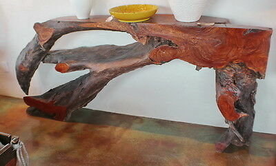 "95"" L Tall 42"" Console Table Makha Wood Free Form Beautiful Spectacular Quality"