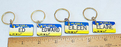 Брелок PERSONALIZED ALASKA LICENSE PLATE GIFT