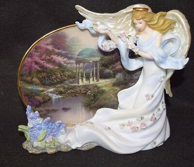 Thomas Kincade Pools Of Serenity Plate With Angel Heavens Grace 2002