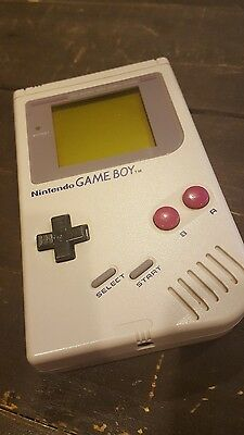 Original 1989 Nintendo Game Boy W/ Super Mario Tiny Toons Golf Dr. Mario Tetris