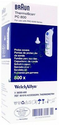 Welch Allyn 06000-005 Braun Thermoscan Pro 6000 Probe Covers - Case Of 144 Packs