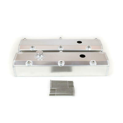 Canton Racing Valve Cover; Fabricated Tall Satin Aluminum For Ford 302/351w Sbf