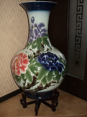 Big Floor Chinese Ceramic Vase Jingdezhen Porcelain Art
