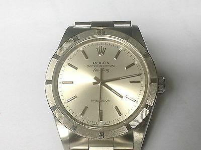 Rolex Stainless Steel Air King Sapphire And No Holes Original Unpolished