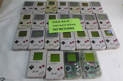 Lot Of 25 Broken Original Nintendo Gameboy Systems For Parts / Repair
