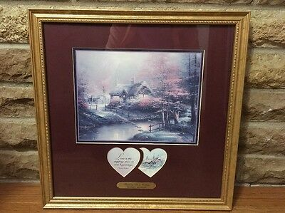 Thomas Kincade Stepping Stone Cottage Framed Art Picture With Coa