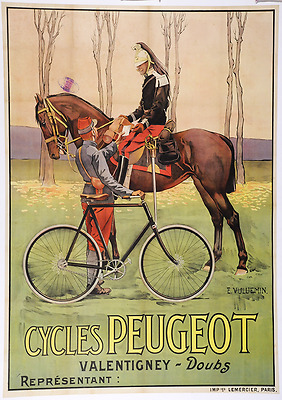 Cycles Peugeot - Original Vintage Bicycle Poster - Cycling - Vuluemin