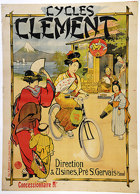 Cycles Clement - Original Vintage Bicycle Poster - Cycling - Rene Leverd