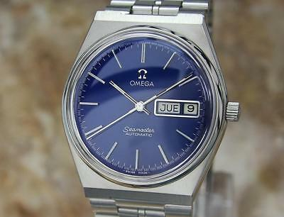 Omega Seamaster Vintage Automatic Mens Swiss 1970s Stainless Day Date Watch Al34