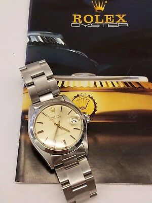 Authentic Rolex Oyster-date  Stainless Steel Original Oyster Band Ivory Dial