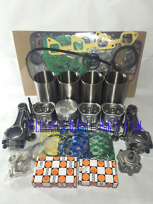 Kubota V2203 V2203e Idi Engine Rebuild Kit& 4 Connecting Rods & Oil Pump