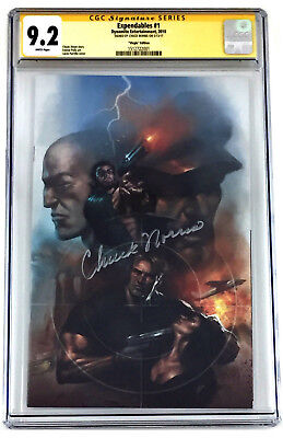 Expendables #1 Virgin Edition 9.2 Cgc Ss Comic Book Signed By Chuck Norris