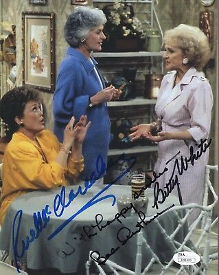 Golden Girls Hand Signed 8x10 Cast Photo       Signed By Betty+bea+rue       Jsa