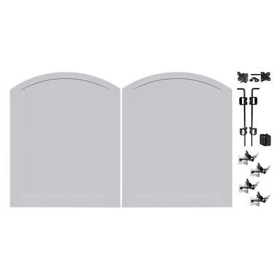 seacoast gray 5 ft. w x 6 ft. h privacy vinyl anaheim double drive fence gate