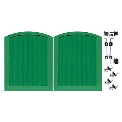 green5 ft. w x 6 ft. h vinyl anaheim privacy double drive through arched gate