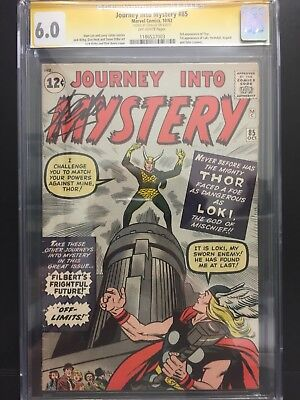 journey into mystery 85 cgc 6.0 signed stan lee 1st loki appearance