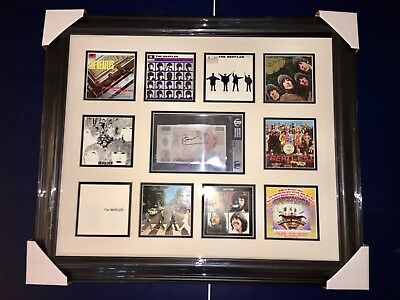 paul mccartney signed penny lane currency framed beatles beckett encapsulated