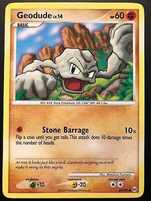 Carte Pokemon GEODUDE 65/99 Commune Platine ARCEUS English NEUF