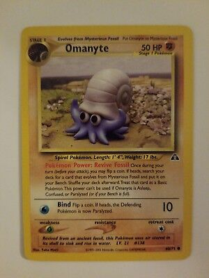 Omanyte 60/75 Neo Discovery 2001 Pokemon LP (Lightly Played)