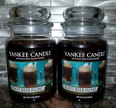 Yankee Candle Root Beer Float Large Jar 22oz X 2 New Rare