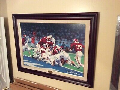 """Framed Alabama Canvas: """"second & Twenty-six""""  By Daniel Moore - Sold Out 59/60"""