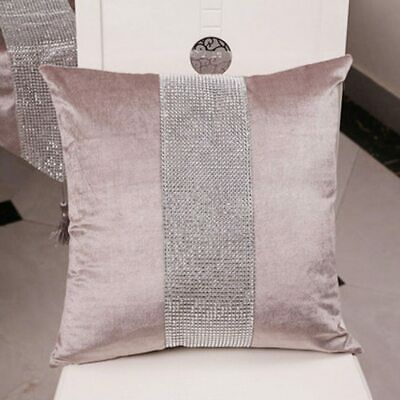 Decorative Pillow Case Flannel Patchwork Modern Simple Throw Cover Pillowcase