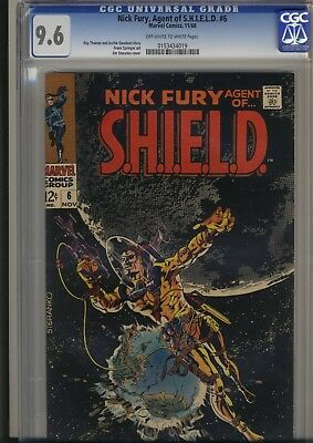 """Nick Fury Agent Of Shield #6     Cgc Nm+ 9.6.  Steranko, Only """"5"""" Graded Higher!"""