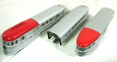 Lionel #s 616, 617, & 618 Three Part Red And Silver Flying Yankee 11-6040-1 Rare