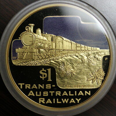 Cook Islands 2004 Great Rail Journeys Set Of Gold Plated Silver Coins