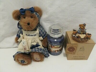 Boyds Bear Muffin B Blueberry Yankee Candle And Topper