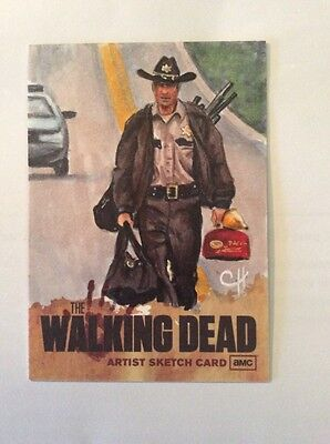 The Walking Dead- Season 1 Sketch Card=   Rick Grimes