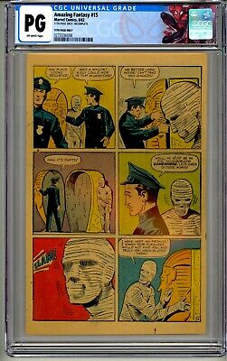 Amazing Fantasy 15 Cgc Pg Page Only 1962 Stan Lee Holy Grail New Spidey Label!!!
