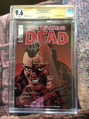 The Walking Dead Comic #111  Signed By Negan  Cgc 9.6