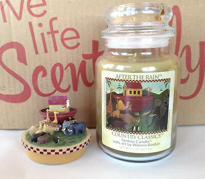 Yankee Candle After The Rain Warren Kimble 22 Oz Jar & Topper Set Noahs Ark