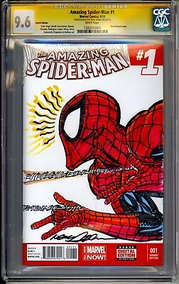 Amazing Spider-man #1 Blank Variant  Cgc Ss 9.6 Neal Adams Sketch Rare!